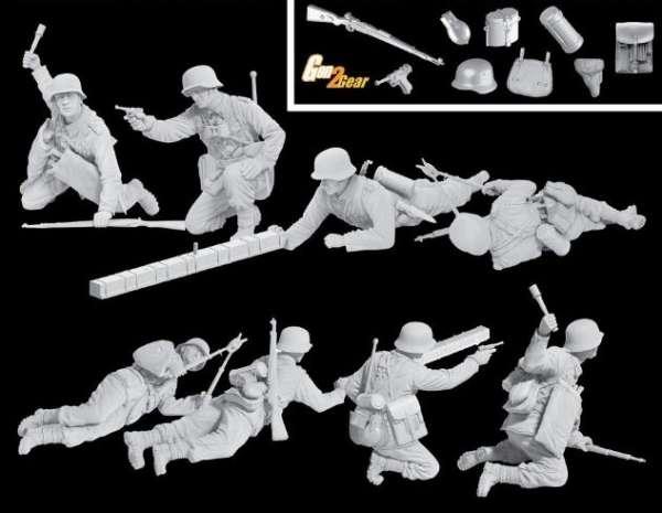 Figurki niemieckiej piechoty górskiej - Dragon 6538 - images a