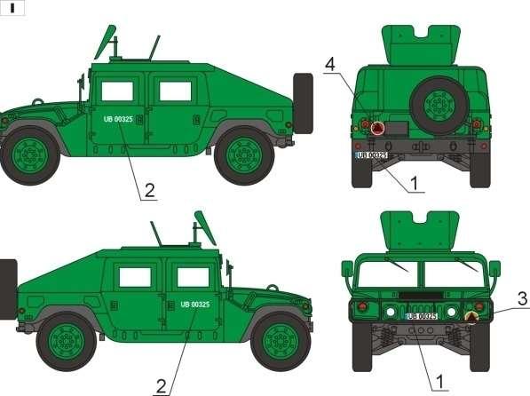 48D04 Polska kalkomania - HMMWV w Wojsku Polskim - 1/48