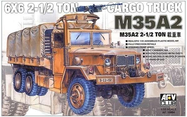 Amerykańska 2,5 tonowa ciężarówka wojskowa M35A2 6x6, plastikowy model do sklejania AFV Club 35004