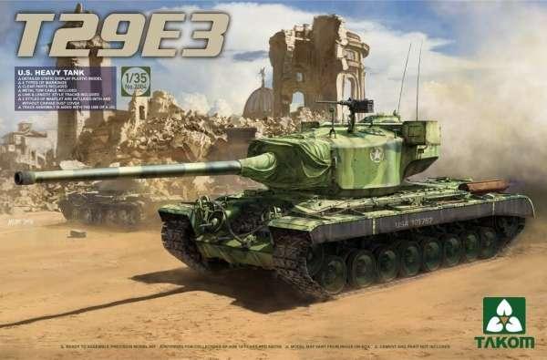 Amerykański eksperymentalny ciężki czołg T29E3, plastikowy model do sklejania Takom 2064 w skali 1:35