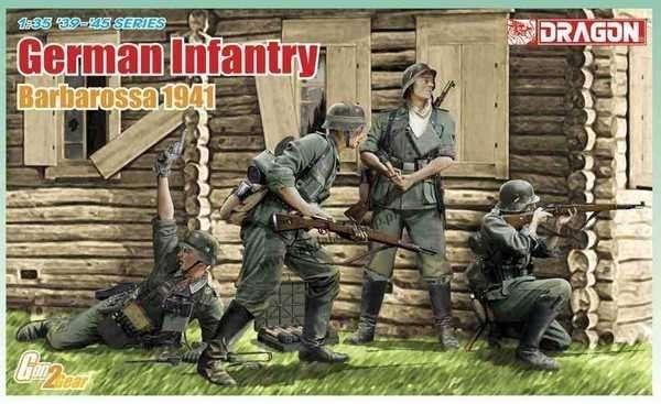 Niemiecka piechota - Barbarossa 1941, plastikowe figurki do sklejania Dragon 6580 w skali 1:35