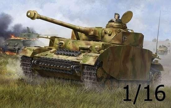 Niemiecki średni czołg Panzerkampfwagen IV Ausf.H, plastikowy model do sklejania Trumpeter 00920 w skali 1:16.