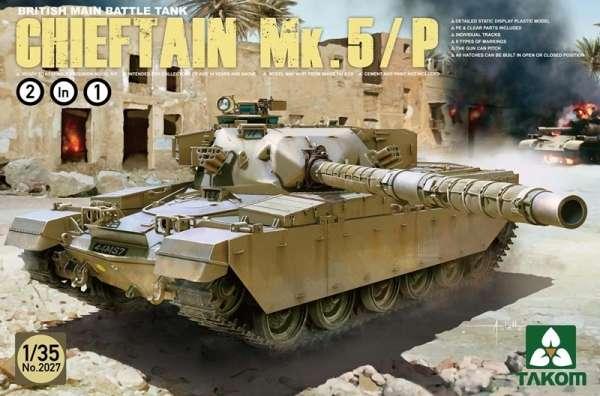 Brytyjski czołg Chieftain Mk.5/P, plastikowy model do sklejania Takom 2027 w skali 1:35
