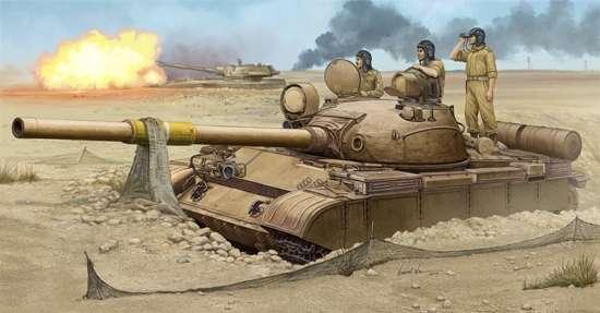 Radziecki czołg T-62 w barwach armii irackiej, plastikowy model do sklejania Trumpeter 01548 w skali 1:35