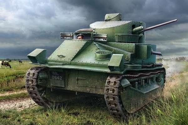 Brytyjski prototypowy średni czołg Vickers Mark II, plastikowy model do sklejania Hobby Boss 83880 w skali 1:35