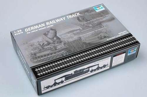 Niemieckie tory kolejowe , plastikowy model do sklejania Trumpeter 00213 w skali 1:35