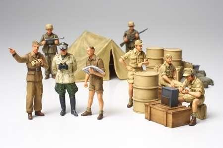 Niemieccy żołnierze Afrika Korps, plastikowe figurki do sklejania Tamiya 32561 w skali 1:48.