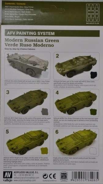 Vallejo 78408 Zestaw Model Air - Modern Russian Green 6x8ml