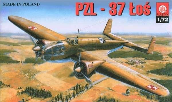 Polski samolot bombowy PZL.37 Łoś, plastikowy model do sklejania Plastyk 001 w skali 1:72