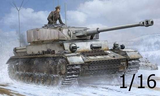 Niemiecki czołg średni Pz.Kpfw.IV Ausf.J z dodatkową radiostacją, plastikowy model do sklejania Trumpeter 00922 w skali 1:16.