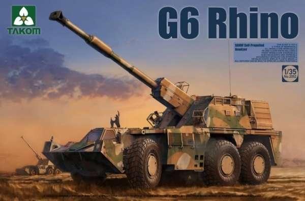 Samobieżna habica G6 Rhino, plastikowy model do sklejania Takom 2052 w skali 1:35