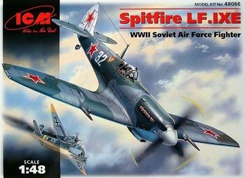 Brytyjski samolot myśliwski Spitfire LF.IXE w Radzieckich Siłach Powietrznych, plastikowy model do sklejania ICM 48066 w skali 1:48