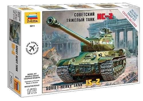 Radziecki ciężki czołg IS-2, plastikowy model do składania (ew. sklejania) Zvezda 5011 w skali 1:72.