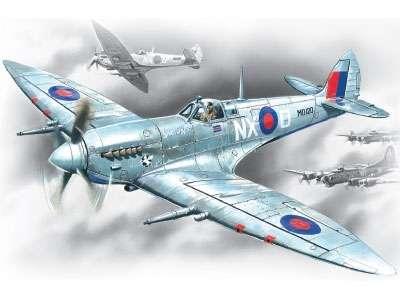Brytyjski myśliwiec Spitfire Mk.VII, plastikowy model redukcyjny do sklejania ICM 48062 w skali 1:48