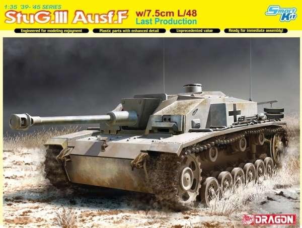 Niemieckie działo samobieżne StuG III Ausf.F, plastikowy model do sklejania Dragon 6756 w skali 1:35.