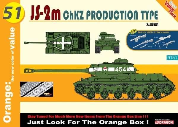 Czołg ciężki IS-2m konstrukcji radzieckiej, plastikowy model do sklejania Dragon 9151 w skali 1:35.