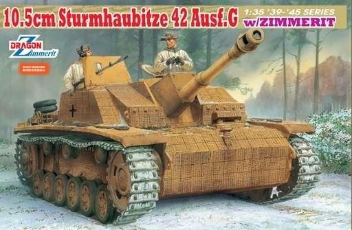 Niemiecka haubica samobieżna Stuh42 ausf. G z zimmeritem, plastikowy model do sklejania Dragon 6454 w skali 1:35.-image_Dragon_6454_1