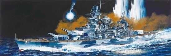 Niemiecki pancernik Scharnhorst 1943, plastikowy model do sklejania Dragon 1040 w skali 1:350