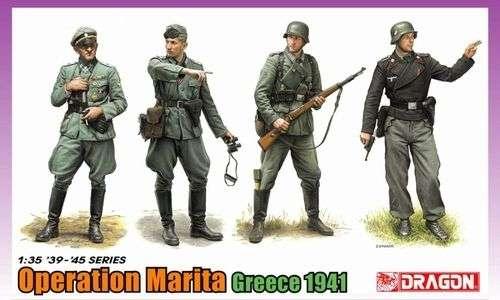 Niemieccy żołnierze - operacja Marita (Grecja 1941), plastikowe figurki do sklejania Dragon 6783 w skali 1/35.