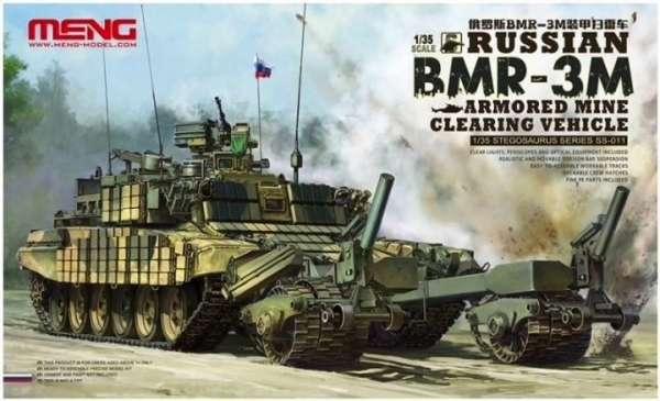 Rosyjski gąsienicowy opancerzony pojazd przeciwminowy BMR-3M, plastikowy model do sklejania Meng SS-011 w skali 1:35