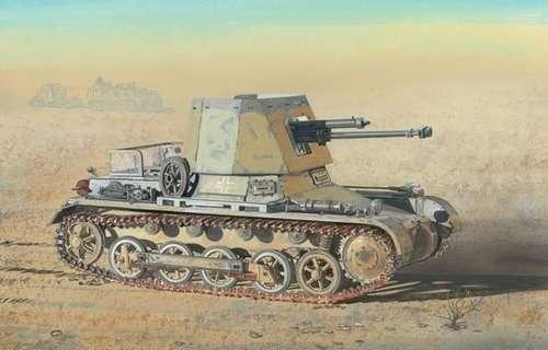 Niemiecki niszczyciel czołgów Panzerjager I 4.7cm PaK(t), plastikowy model do sklejania Dragon 6230 w skali 1:35.