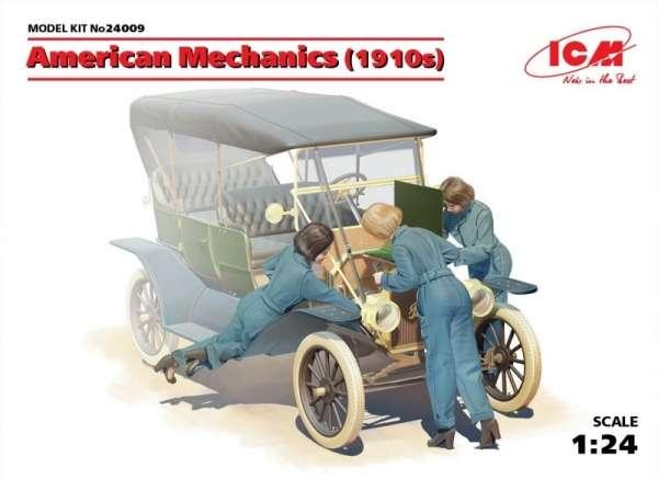 Amerykańskie kobiety - mechanicy podczas naprawy, plastikowe figurki do sklejania ICM 24009 w skali 1:24