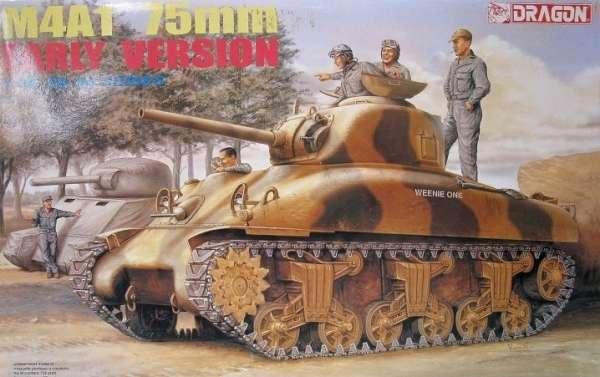 Amerykański czołg średni M4A1 Sherman w wersji wczesnej, plastikowy model do sklejania Dragon 6048 w skali 1:35.