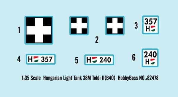 Kalkomania modelu Hobby Boss 82478