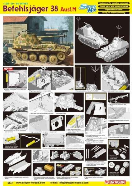 Dragon 6472 w skali 1:35 - model Befehlsjager 38 Ausf.M - image a