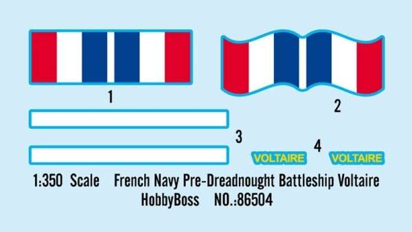 Hobby Boss French Navy Pre-Dreadnought Battleship Voltaire