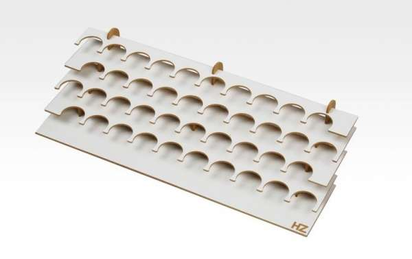 Modelarski duży stojak na farby do średnicy 36mm x 40szt, Hobby Zone S1b