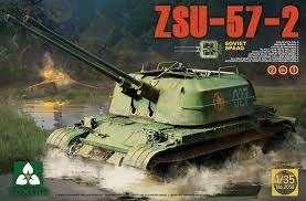 Radzieckie samobieżne działo przeciwlotnicze ZSU-57-2, plastikowy model do sklejania Takom 2058 w skali 1:35