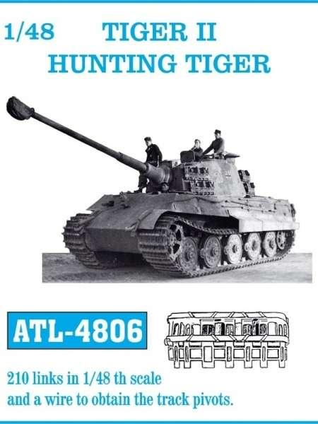 Metalowe gąsienice do modelu Tiger II / Hunting Tiger w skali 1:48, Friulmodel ATL-4806