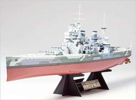 Brytyjski pancernik Prince of Wales , plastikowy model do sklejania w skali 1/350. Tamiya 78011