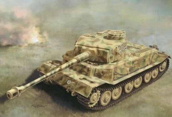 Plastikowy model do sklejania niemieckiego czołgu Panzerkampfwagen VI (P) w skali 1:35. Model Dragon 6797.