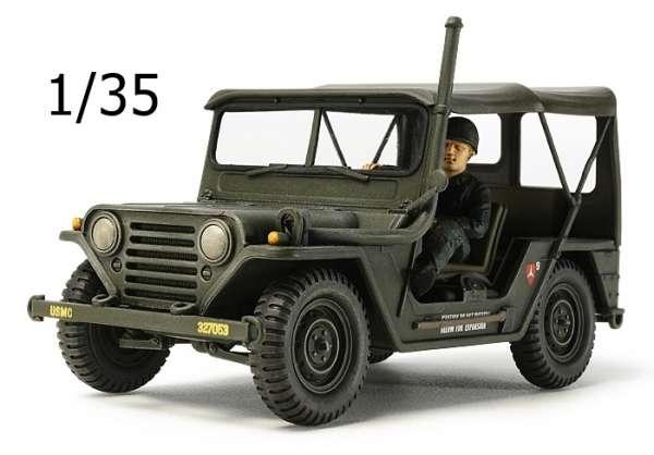 Amerykański samochód wojskowy M151A1 z okresu wojny w Wietnamie, plastikowy model do sklejania Tamiya 35334 w skali 1/35.-image_Tamiya_35334_1
