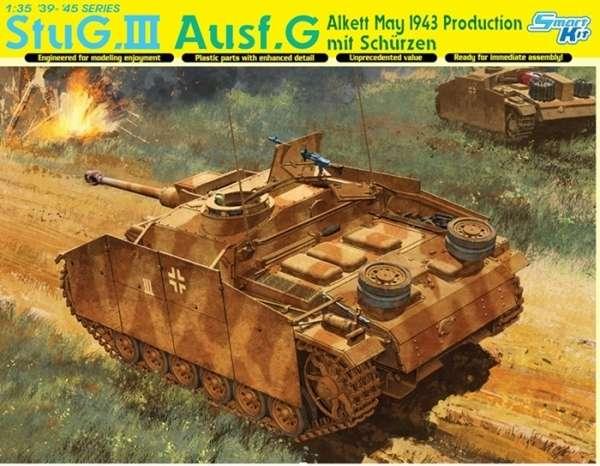Niemieckie samobieżne działo pancerne StuG.III Ausf.G z kurtynami bocznymi, plastikowy model do sklejania Dragon 6578 w skali 1:35.