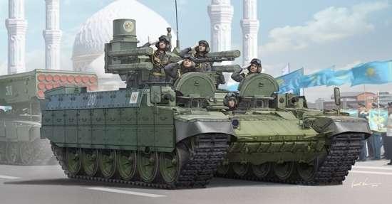 Ciężki wóz bojowy wsparcia czołgów BMPT , plastikowy model do sklejania Trumpeter 09506 w skali 1:35