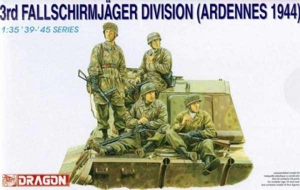 Niemieccy żołnierze 3 Dywizji Strzelców Spadochronowych, plastikowe figurki do sklejania Dragon 6113 w skali 1:35
