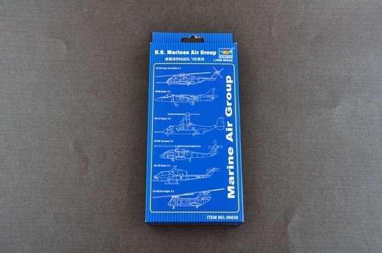 Zestaw dodatków (helikoptery i samolot) z przezroczystego plastiku, plastikowe modele do sklejania Trumpeter 06639 w skali 1:350