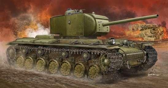 Super ciężki czołg KW-220 zwany radzieckim Tygrysem, plastikowy model do sklejania Trumpeter 05553 w skali 1:35.-image_Trumpeter_05553_1