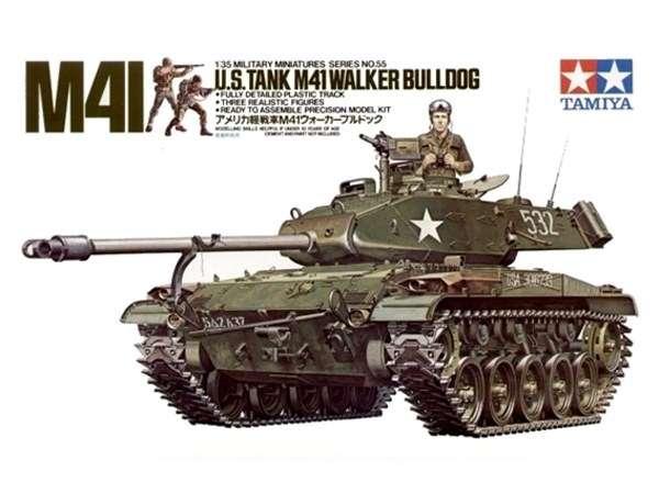 Amerykański czołg M41 Walker Bulldog, plastikowy model do sklejania Tamiya 35055 w skali 1:35