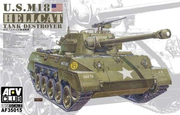 Amerykański niszczyciel czołgów M18 Hellcat, plastikowy model do sklejania AFV AF35015 w skali 1:35-image_AFV Club_AF35015_1