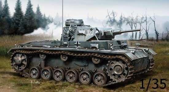Niemiecki czołg średni Pz.Kpfw.III Ausf. H (produkcja wczesna), plastikowy model do sklejania Dragon 6641 w skali 1/35.