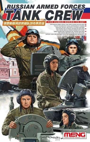 Rosyjska załoga czołgu, plastikowe figurki do sklejania Meng HS-007