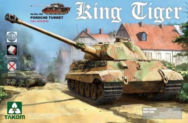 Model czołgu Tygrys Królewski w skali 1/35, model Takom 2074.