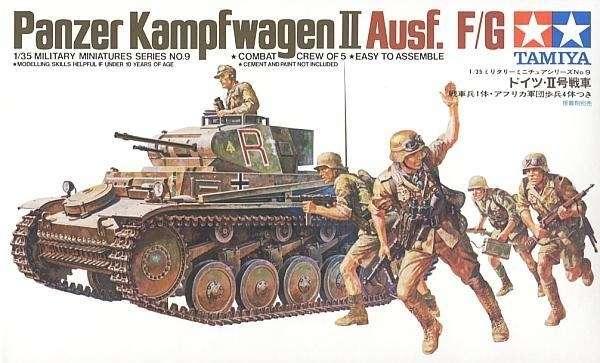 plastikowy model niemieckiego lekkiego czołgu PZII do sklejania w skali 1/35, model Tamiya 35009.-image_Tamiya_35009_1