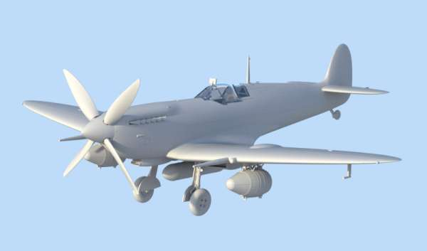 ICM 48060 w skali 1:48 - model Spitfire Mk.IXC Beer Delivery do sklejania - image b