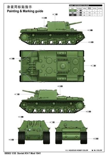 Trumpeter 09503 Soviet KV-7 Mod 1941