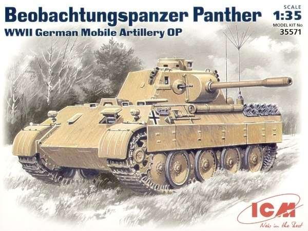 Niemiecki czołg obserwacyjny Panther, plastikowy model do sklejania ICM 35571 w skali 1:35